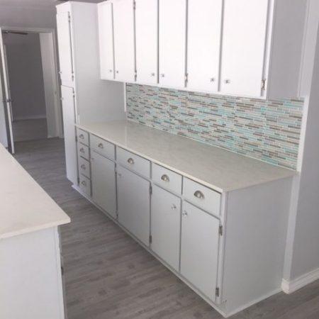 Colored tiled Kitchen Backsplash