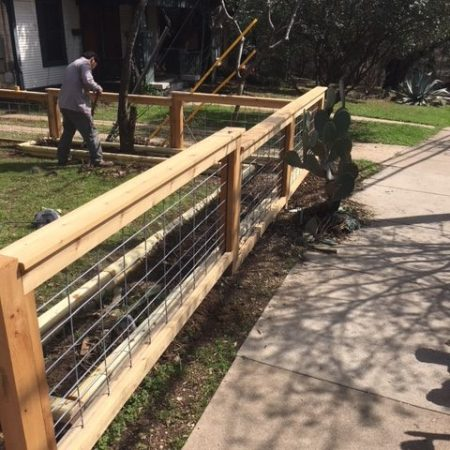fencing and landscaping project