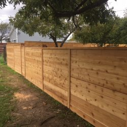 new fencing exterior view