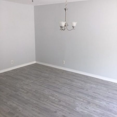newly intsalled hardwood floors