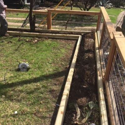 Yard fencing project by GARSC
