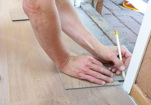 measuring out flooring