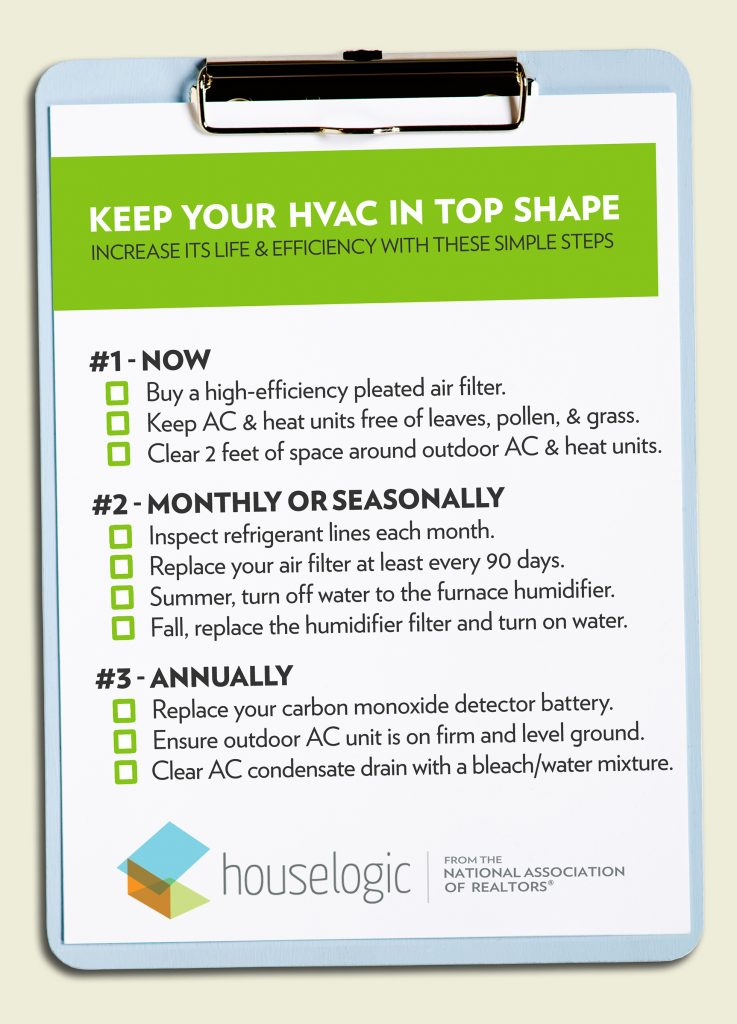 Keep your HVAC in top shape with this checklist.