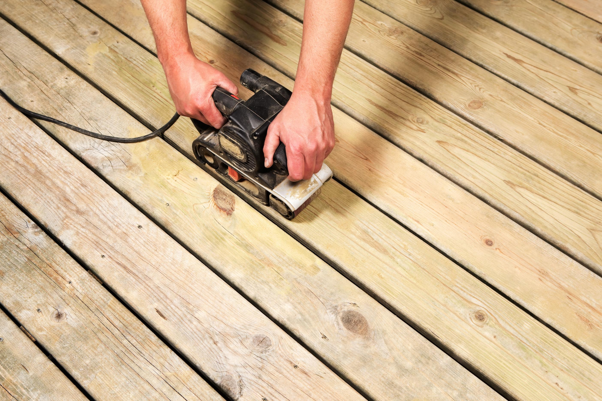 Deck Repair with Sander